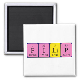 Filip name gifts gift ideas zazzle uk filip periodic table name magnet urtaz Image collections