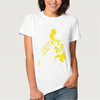 Filipina Philippine Islands Yellow T Shirts
