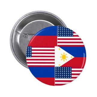 FILIPINO-AMERICAN 6 CM ROUND BADGE