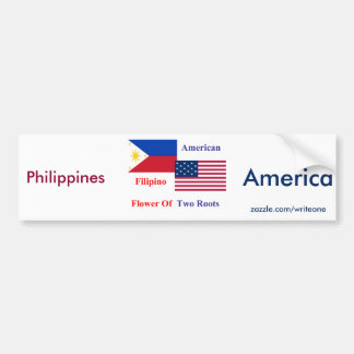 Filipino-American Car Bumper Sticker