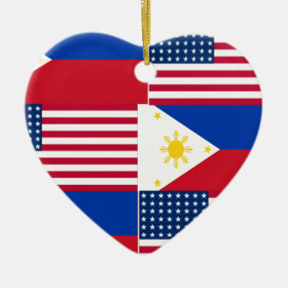 FILIPINO-AMERICAN CERAMIC HEART DECORATION