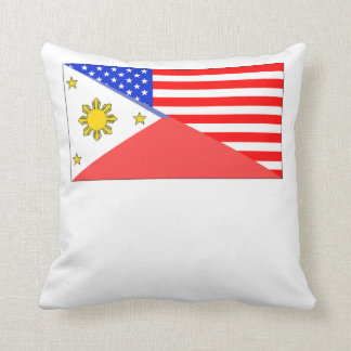 Filipino American Flag Throw Cushions