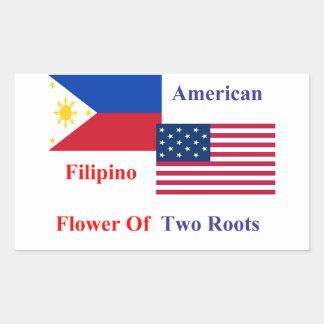 Filipino-American Rectangular Sticker