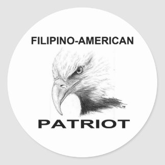 Filipino-American Round Stickers