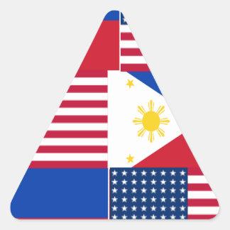 FILIPINO-AMERICAN TRIANGLE STICKER