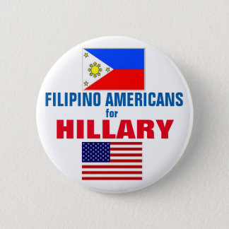 Filipino Americans for Hillary 2016 6 Cm Round Badge