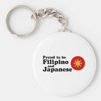 Filipino and Japanese Basic Round Button Key Ring