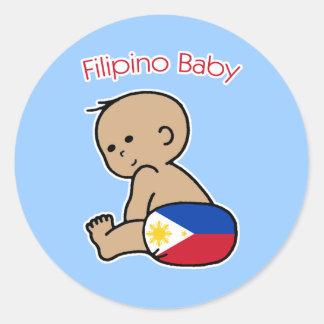 Filipino Baby Classic Round Sticker