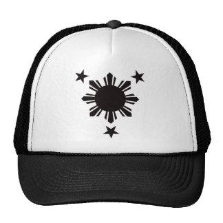 Filipino Basic Sun and Stars - Black Hats