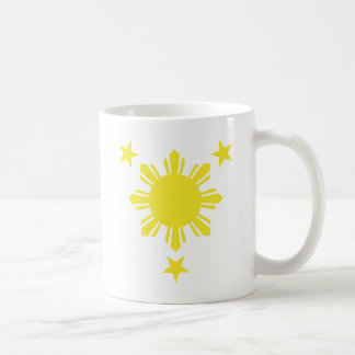 Filipino Basic Sun and Stars - Yellow Mug