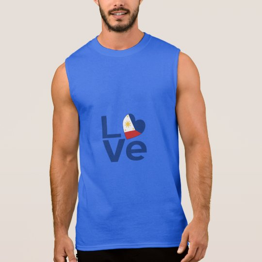Filipino Blue LOVE Sleeveless Shirt