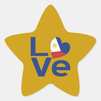 Filipino Blue LOVE Star Sticker