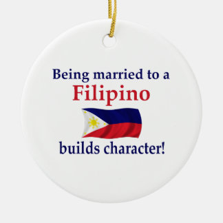 Filipino Builds Character Christmas Ornament
