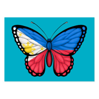 Filipino Butterfly Flag Business Cards
