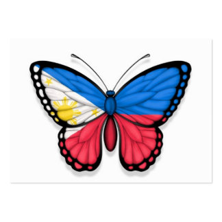 Filipino Butterfly Flag Business Card Templates