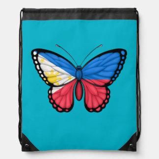 Filipino Butterfly Flag Drawstring Bag