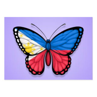 Filipino Butterfly Flag on Purple Business Card
