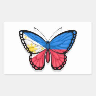 Filipino Butterfly Flag Rectangular Sticker