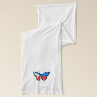 Filipino Butterfly Flag Scarf
