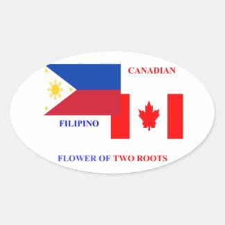 Filipino-Canadian Oval Sticker