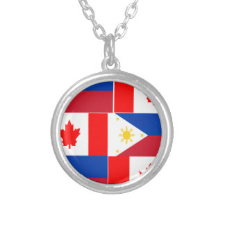 Filipino-Canadian.png Silver Plated Necklace