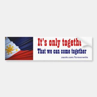 filipino come together car bumper sticker