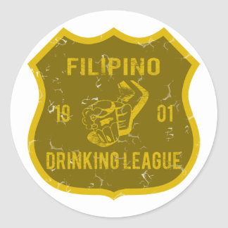 Filipino Drinking League Classic Round Sticker