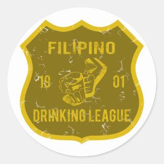 Filipino Drinking League Round Sticker