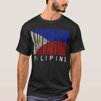 Filipino Flag Barcode T-Shirt