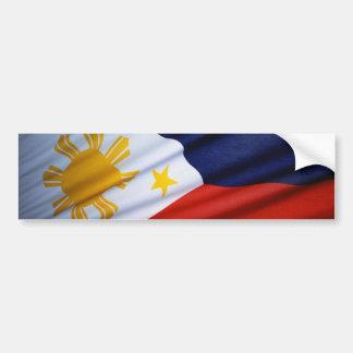 Filipino Flag Car Bumper Sticker