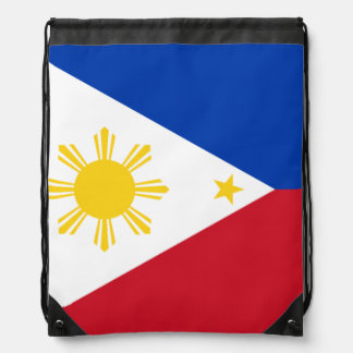 Filipino flag drawstring bag