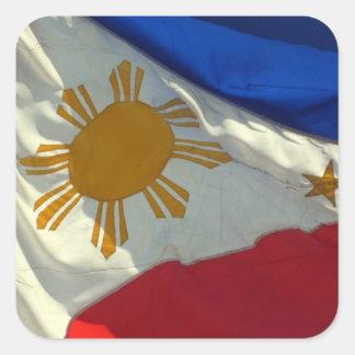 filipino flag square sticker