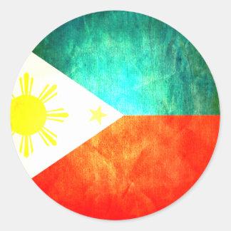 Filipino Flag Round Sticker