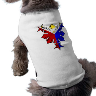 Filipino Flag Sun and Stars Dog Shirt