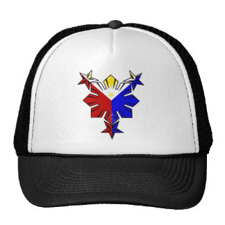 Filipino Flag Sun and Stars Hat