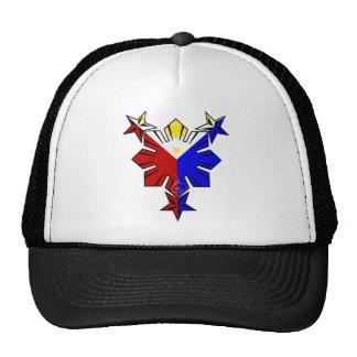 Filipino Flag Sun and Stars Hat