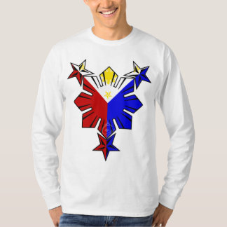 Filipino Flag Sun and Stars Long Sleeve Shirt