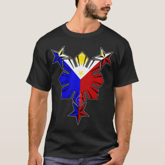 Filipino Flag Sun and Stars T-Shirt