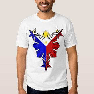 Filipino Flag Sun and Stars Tshirts