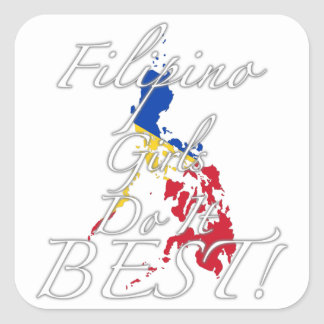 Filipino Girls Do It Best Sticker