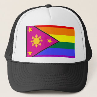 Filipino GLBT Pride Flag Trucker Hat