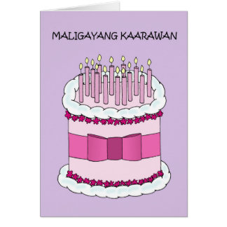 Filipino Happy Birthday Card
