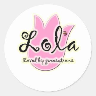 Filipino Lola Mother's Day Gift Round Sticker