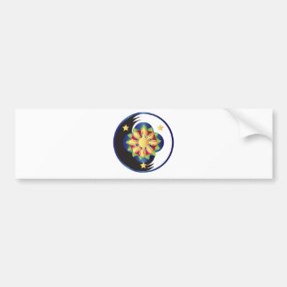 Filipino Lotus Flower Mandala Bumper Sticker