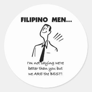 Filipino Men Are Best Round Stickers