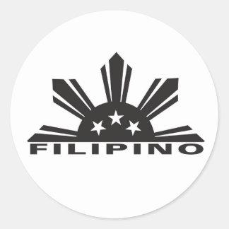 Filipino Pinoy Pride Round Sticker