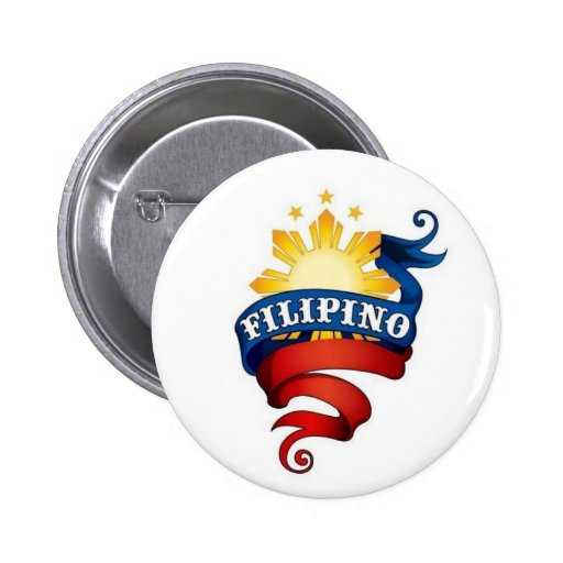Filipino Pride Pinback Button