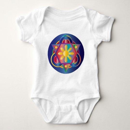 Filipino Rainbow Mandala Baby Bodysuit