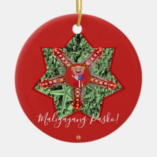 filipino star parol beach star fish green christmas ornament - Filipino Christmas Star