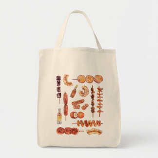 Filipino Street Food in Watercolor Pinoy Tote Bag